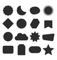 black silhouette isolated kids different shape set vector image vector image