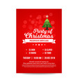 bright red christmas invitation card vector image