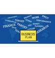 business plan vector image