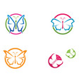butterfly conceptual simple colorful icon logo vector image vector image