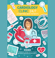 cardiologist doctor cardiologykit and heart vector image vector image