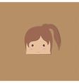 cartoon doodle girl rectangle vector image vector image