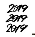 chinese calligraphy for 2019 new year pig vector image