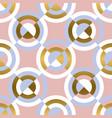 circular geometric shapes seamless pattern vector image vector image