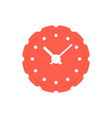 circular red clock icon vector image