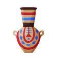 clay vase ancient egyptian crockery pottery flat vector image