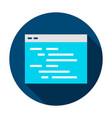 coding webpage circle icon vector image