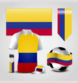 colombia flag design vector image vector image