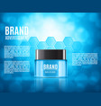 cosmetic ads template vector image vector image