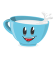 Cute cup of milk vector image vector image