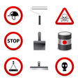 danger building icons vector image