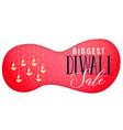 diwali sale banner with hanging diya art vector image