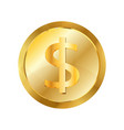 dollar gold coin icon realistic style vector image