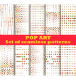 Dotted Pop Art seamless pattern background vector image vector image