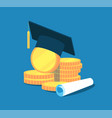 education money college tuition graduation vector image vector image