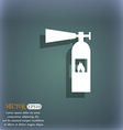 fire extinguisher icon sign On the blue-green vector image