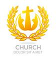 fire rescue church christ savior religion vector image vector image