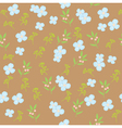 floral pattern brown vector image
