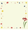 Frame floral ornament on yellow background vector image vector image