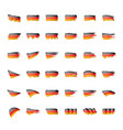 germany flag on a white vector image vector image