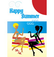 girlfriends on the beach vector image vector image