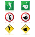 Golfing signs vector image vector image