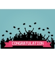 Graduates People throw square academic cap vector image vector image