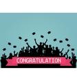 Graduates People throw square academic cap vector image vector image