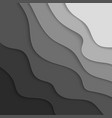 gray paper graphic elements wavy paper cut vector image