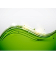 Green floral wave abstract background vector image