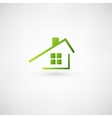 Green home icon on white background vector image vector image