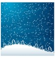 Just realistic beautiful snow vector image