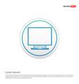 laptop icon - white circle button vector image vector image