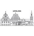 latvia riga line skyline vector image