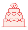 love cake flat icon valentine cake pink icons in vector image vector image