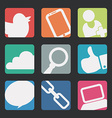 manager icons design vector image vector image