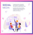 marketing agency team improve social media ui vector image