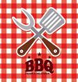 menu bbq vector image vector image