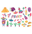 mexican traditional objects vector image vector image