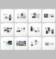 minimal brochure templates with gray color vector image vector image