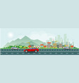 modern life and urban traffic banner vector image