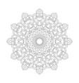 monochrome ethnic mandala design vector image