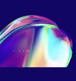 multi-colored liquid on a dark background mesh vector image vector image