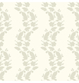 Neutral floral ornament Beige plant vector image