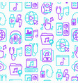 online music seamless pattern with thin line icons vector image vector image