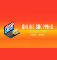 online shopping sale discount isometric laptop vector image vector image