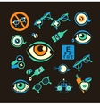 ophthalmologist set icons vector image vector image