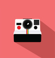 Polaroid Vintage Camera Flat Design vector image