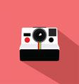 Polaroid Vintage Camera Flat Design vector image vector image