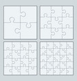 puzzles jigsaw vector image vector image